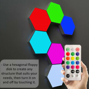 Touch Sensitive RGB remote Lamp Hexagonal Quantum Modular LED Night Light