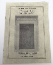 VTG Ancient Accepted Scottish Rite of Freemasonry Des Moines Iowa Lodge Pamphlet
