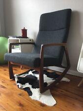 Edvard Danish Design Rocking Chair Tweed Dark Grey