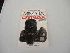 """Buch Anleitung Bedienungsanleitung """" Minolta Dynax 500i """" Maschke Laterna Magica"""