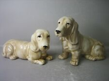 Pair lovely dog figurines