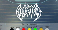 "SINISTER BIG SIZE VINYL DECAL STICKER 22.5"" WIDE CUSTOM COLOR"
