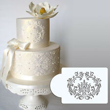 Filigree Damask Cake Stencil Fondant Designer Decorating Cookie Baking Tool Top