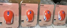 Logitech-M187 Mini Wireless Optical Mouse -Orange 4Pack>FREE SHIPPING-BRAND NEW