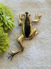 Classic Pin Brooch Frog Amphibian Lake Legs Toad Tadpole Salamander Gold To Ch14