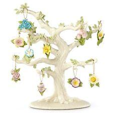 Lenox Celebrate Flowers Miniature Tree Ornaments Set 10 Tulip Lily Rose Iris NEW