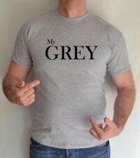 Camisetas de hombre de manga corta gris Gildan