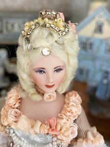 Vintage Artisan Miniature Dollhouse Doll Jacqueline Polier c1989 FABULOUS DOLL!