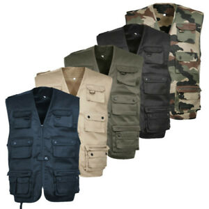GILET REPORTER TREESCO CAMOUFLAGE OUTDOOR TRAQUE CHASSE FLUO