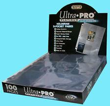 100 ULTRA PRO PLATINUM 9-POCKET Card Pages Sheets Protectors 1 box baseball