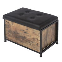 """24"""" Entryway Storage Bench Flip Top Ottoman Bed End Stool w/Padded Seat"""