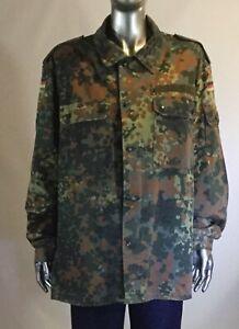 VintageGerman Military Camouflage Camo Shirt Dark War Army Combat, 1995