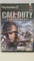 PS2 Game Call of Duty: Finest Hour COMPLETE WITH MANUAL