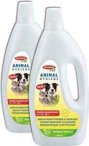 Biodor Pet 2x1 L Animal Hygiene Geruchsentferner & Reiniger | Power Konzentrat