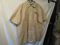 JB Hunt Trucking Transportation Freight Brown Colar Shirt Short Sleeve Size 3XL