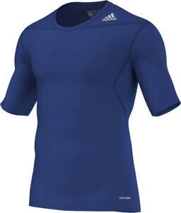 adidas Techfit Funktionsshirt Shortsleeve royal-blau (D82091) Gr. XL