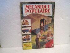 """MAGAZINE""""MECANIQUE POPULAIRE"""" juillet 1954 n°98 construisez la remorque"""