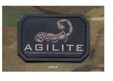 PVC Morale Patch - MSM - AGILITE Scorpion Logo - URBAN STEALTH - NEW