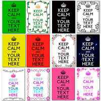 "Large A4 Personalised Keep Calm and ""Add your own Text"" Poster Birthday Gift r"