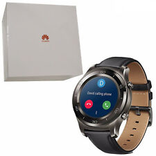 BNIB Huawei Watch 2 Classic 4GB Titanium Grey IP68 Leather Android Wear OS New