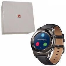 BNIB Huawei Watch 2 Classic 4GB Titanium Grey IP68 Leather Android Wear OS New