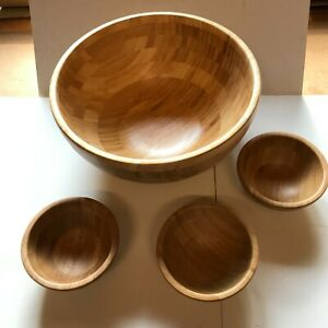 Large Wooden Salad Bowl + 3 Small Dishes - IKEA
