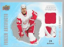 08/09 Artifacts Frozen Jersey Patch Chris Chelios /35 FAD-CC Wings