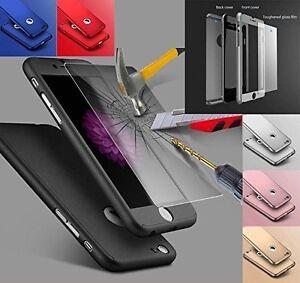 Hybrid 360 Front Back Shockproof Case & Tempered Glass For Apple iPhone 5/6/7