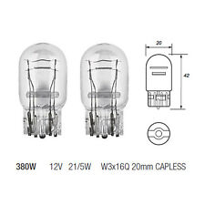 2 x 380W W21/5W Capless Brake Stop & Tail Light Bulb 580 12v 21/5w Twin Filament