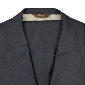 Mens 46 L Paul Stuart Charcoal Grey Super 130's Wool Suit Adj Tab Pleat 40x33