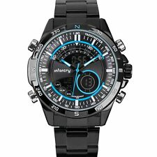 Infantry Chrono Master Men's Analog-Digital Quartz Watch Stainless Steel Band