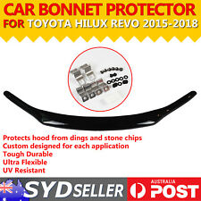 Tinted Black Toyota Bonnet Protector Front Hood Guard For Hilux Revo 2015 - 2018