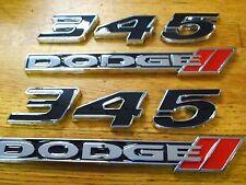 DODGE CHALLENGER CHARGER MAGNUM JEEP CHRYSLER 345 DODGE 5.7L EMBLEMS SET BLACK
