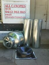NEW  EXHAUST FAN AND MOTOR AND DUCT KIT FOR CANOPY, PLEASE READ ITEM DESCRIPTION