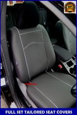 Black Eco-Leather Tailored Full Set Seat Covers Skoda Octavia Mk3 / III 2013-on