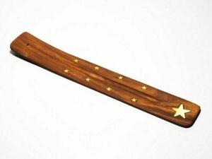 Wooden Incense Stick Holder Burning Joss Stick Ash Catcher Incense Burner Gift