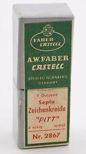 Vintage A.W.Faber Castell Sepia Zeichenkreide Pitt 2867 crayon