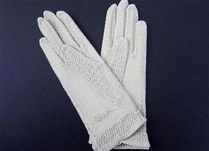 Gloves Womens Wrist Japan One Size Stretch Lace Bridesmaid Wedding 1960s NIP