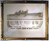 Wunderschöne Gravur Foren De Longchamp -holz Boulogne Promenaden De Paris 1882
