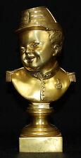 19th Century Gilt Bronze Bust of Baby Napoleon Bonaparte