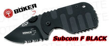 Boker Plus Subcom F Folder BLACK Serrated 01BO586 *NEW*