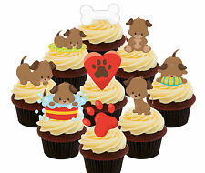 Puppy Party, 36 Edible Cup Cake Toppers, Standup Fairy Bun Decorations, Dog Girl