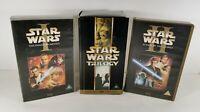 Star Wars VHS Trilogy Set & The Phantom Menace I Attack of The Clones II Bundle