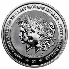 2021 British Virgin Islands 1oz Silver $1 Morgan/Peace Dollar 100th Anniversary