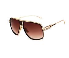 Retro Square Hip Hop Sunglasses Vtg Gazelle Vintage Oversized Flat Top Glasses