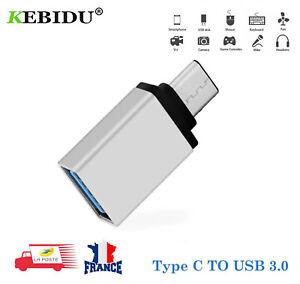 Adaptateur USB-C 3.1 mâle type C vers USB OTG 3.0 A  connecteur femelle