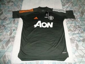 NWT Manchester United AON Adidas Aeroready Soccer Training Jersey Mens Small