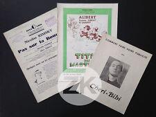 CHERI-BIBI Leroux TITIN DES MARTIGUES Scotto Nat RIMSKY J-A Mercier 3 Docs 1930s