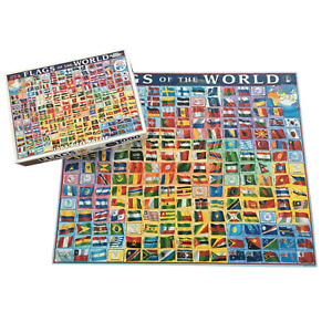 White Mountain Puzzles Flags of the World 1000 Pcs Homeschool Geography Family