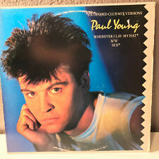 """PAUL YOUNG - Wherever I Lay My Hat / Sex - 12"""" Vinyl Record Single - EX"""